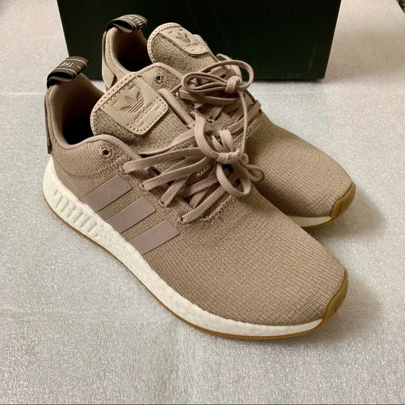 New Men's Adidas NMD R2 US 8 Vapor Grey Beige Tan NWT